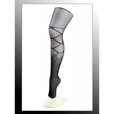 Leggings/ Tights/ Pantyhose - Mesh - Black - SK-LGN2485