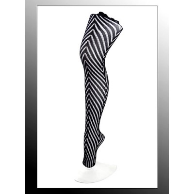 Leggings/ Tights/ Pantyhose - Mesh - Black - SK-LGN2486