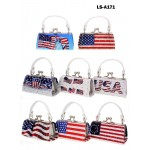 Lipstick Case - USA Flag Print  - 12PCS/PACK - LS-A171