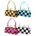 Lipstick Case - Checker Print - 12PCS/PACK - LS-CKR-ASST