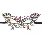Mask – Multi-Color Butterfly Lace Masquerade Mask - MK-71596MU