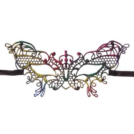 Mask – Multi-Color Butterfly Lace Masquerade Mask - MK-71596MU
