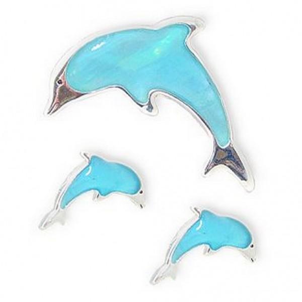 Mother of Pearl Dolphin Pendant & Earrings Set - NE-MCE1153SM