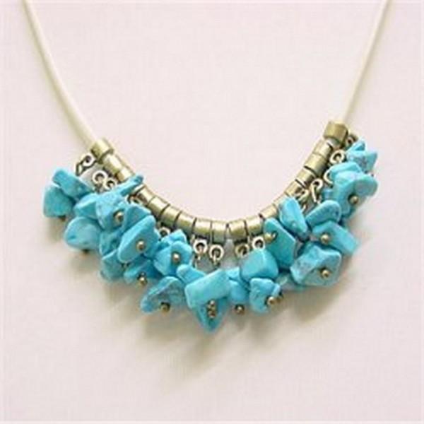 Leather Chord Stone Necklaces - NE-XN029