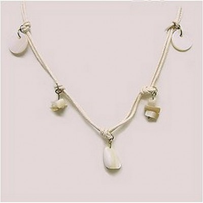 12-pc Shell Charm Necklace - NE-XN058BG