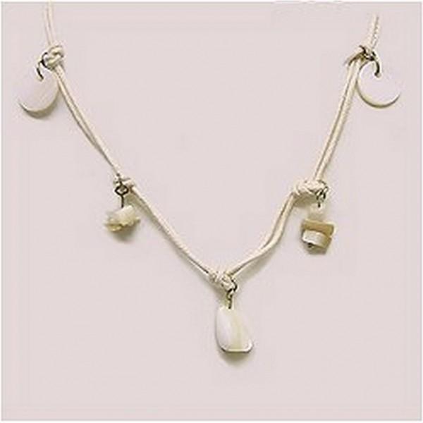 12-pc Shell Charm Necklace - NE-XN058BG