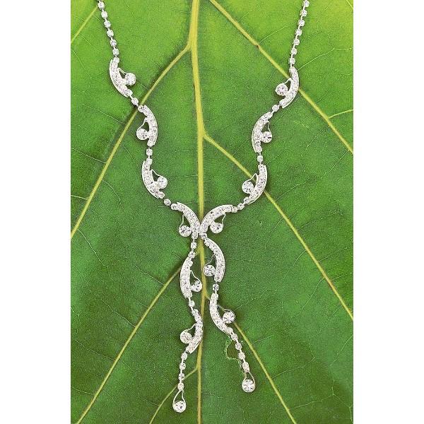 Rhinestone Vintage Necklace & Earrings Set - NE-11950