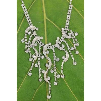 Rhinestone Vintage Necklace & Earrings Set - NE-11951