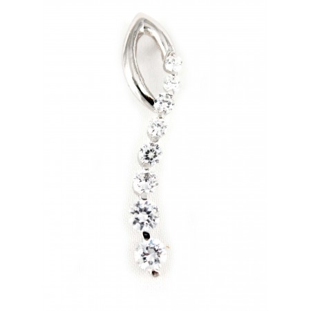 Pendant - 925 Sterling Silver with Australian Crystals  - NE-PPT8768