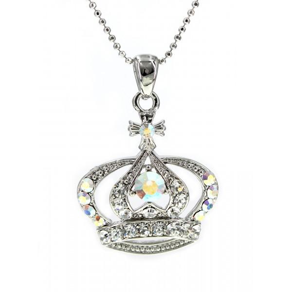 Swarovski Crystal Crown Charm - Medium Size - Clear -NE-N3329CL