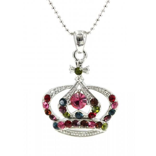 Swarovski Crystal Crown Charm - Medium Size - Multi -NE-N3329MT
