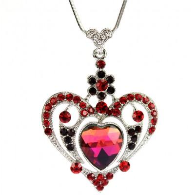Necklace - Swarovski Crystal Heart Necklace - NE-N2653RD