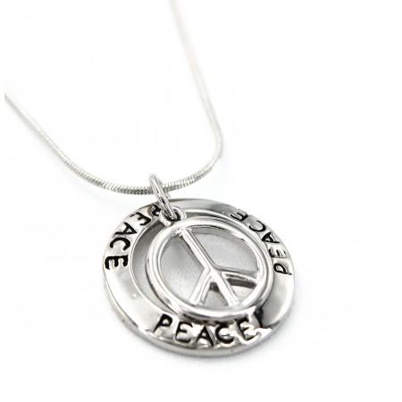 Loop w/ Peace Sign Necklaces - NE-11515
