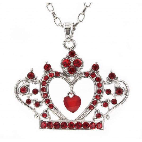 Swarovski Crystal Crown Charm - Red -Made in Korea - Red - NE-N4925RD