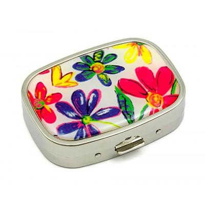 Pill Box - Floral Print - GPB-1171