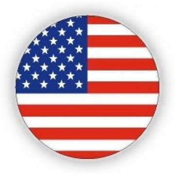 USA Flag Print Pin - 12 PCS Pack - PN-UFG01