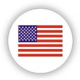 USA Flag Print Pin - 12 PCS Pack - PN-UFG02