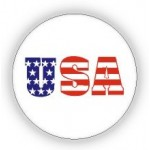 USA Flag Print Pin - 12 PCS Pack - PN-UFG03