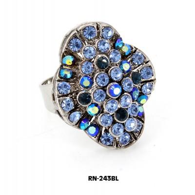 Austrian Crystal  Ring  - Blue Color - RN-243BL