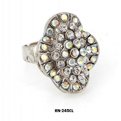 Austrian Crystal  Ring  - Clear Color - RN-2243CL