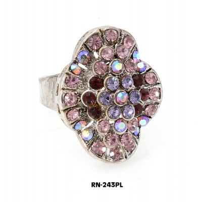 Austrian Crystal  Ring  - Purple Color - RN-243PL