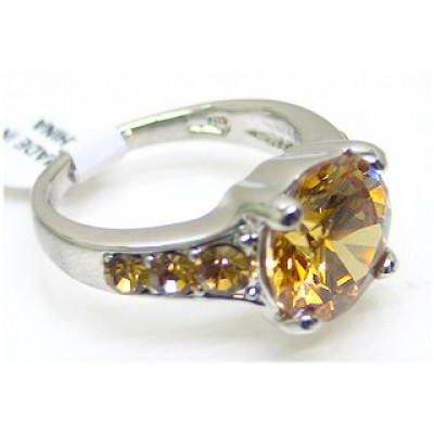 12-PC CZ Rings/ Square Rhodium Plated - Assorted Size -RN-CQR1002G
