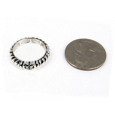 12-PC Finger Rings, Stretchable, Wester Texture - RN-OR0004-AS