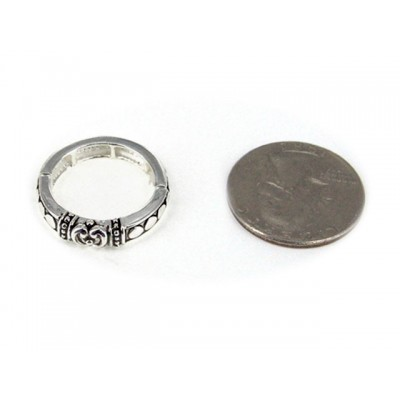 12-PC Finger Rings, Stretchable, Wester Texture - RN-OR0005-AS