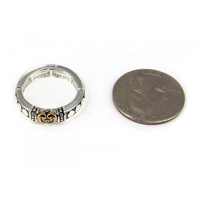 12-PC Finger Rings, Stretchable, Wester Texture - RN-OR0005-TT