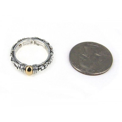 12-PC Finger Rings, Stretchable, Wester Texture - RN-OR0006-TT