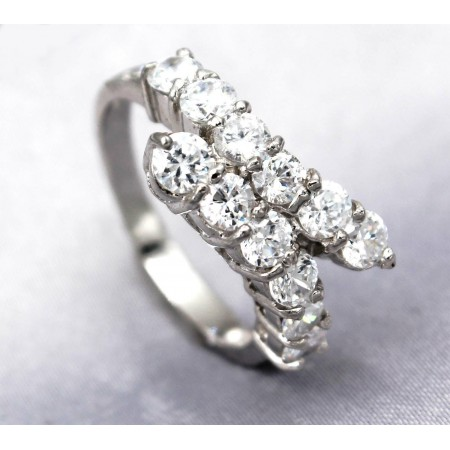 Rings - 925 Sterling Silver w/ CZ - Journey Collection - RN-PRG9076CL