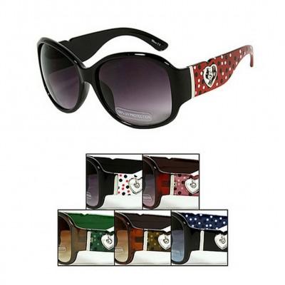 Sunglasses - JCT Group - Heart Charm - Asst. Color - GL-2823