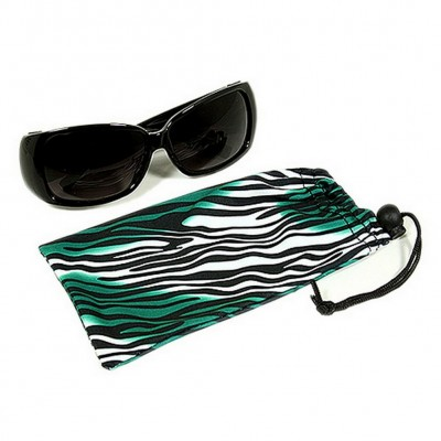 Sunglasses Pouches - Tiger Stripes Print- Green - Pack/ 12 pcs - GL-CAS7-7
