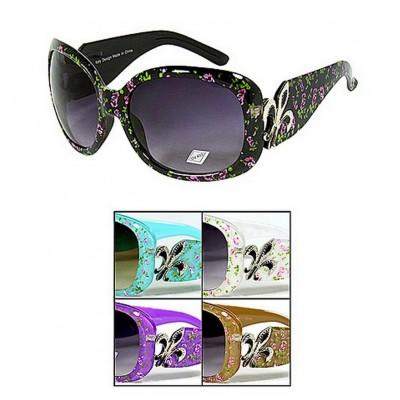 Sunglasses - Fleur De Lis Charm - Flower Print - GL-IN4010R
