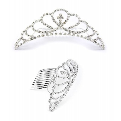 Tiara w/ Side Comb - Clear Crystal Stones - CB-T3246