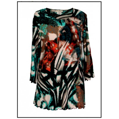 Merrow Top with 3/4 Sleeve, Abstract Print – Multi - ATP-MT9514