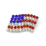 USA Flag Pin - Rhinestone USA Pin - PN-4709S