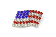 USA Flag Pin - Rhinestone USA Pin - PN-4709S