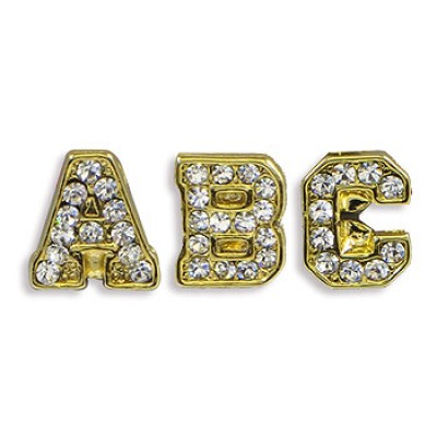 Versatile Stickers - 26 Pieces Alphabet Genuine Swarovski Crystal Stickers