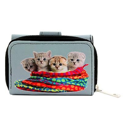 Tri-Fold Wallet - Kitty Print - WL-197CAT1-5