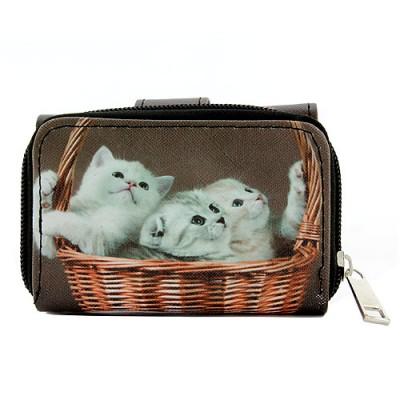 Tri-Fold Wallet - Kitty Print - WL-197CAT2-2
