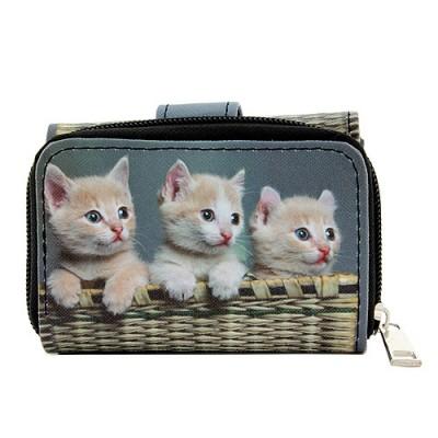 Tri-Fold Wallet - Kitty Print - WL-197CAT2-4