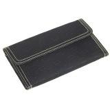 Wallet - Jacquard Print Wallet w/ Checkbook - Black - WL-AB3002BK