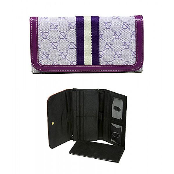 Wallet - Jacquard Monogram Check Book Wallet - Purple  -WL-AND008BPU