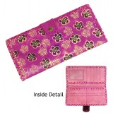 Wallet - Embossed Butterfly WAllets w/ Whipped on Edges - Fuchsia - WL-HW00019FU
