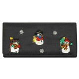 Wallet - Snowman Embroidery Wallet - WL-MCS030WB