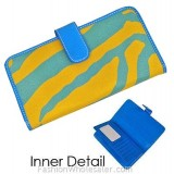 Wallet - BB GROUP - Zebra Print Wallet - Turquois - WL-Z003YL-TQ