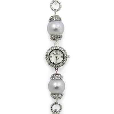 Bracelet Watch - Pearl Like Links Band - WT-L80626WT