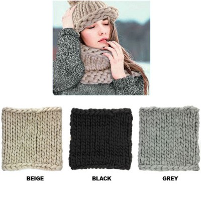 Scarf - Jumbo Cable Knitted Neck Warmer - SF-NK42