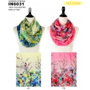 Infinity Scarf - Silk Touch - Garden Print  - SF-IN6031